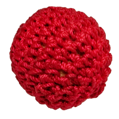 "1"" Magnetic Crochet Ball (Rojo) - Ickle Pickle Products Inc"