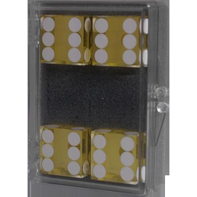 Dice 4-pack yellow Near-precision 19mm (casino)
