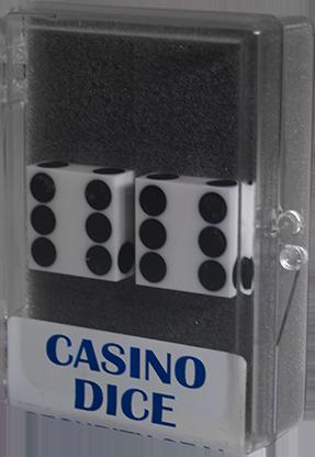 Dice 2-Pack White Precision 19mm (Casino) - Trick
