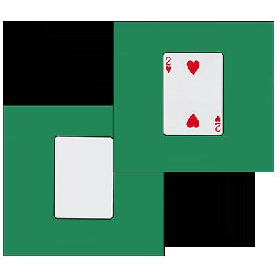 Card Silk Set 9 inch (2 of Hearts + Blank) by Vincenzo Di Fatta