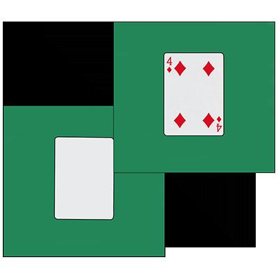 Card Silk Set 9 inch (4 of diamonds + blank) by Vincenzo Di Fatta