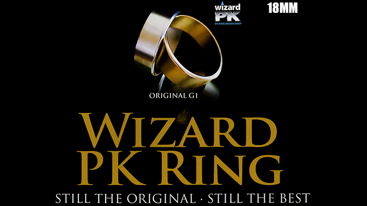 Wizard PK Ring Original (FLAT, GOLD, 18mm) - World Magic Shop