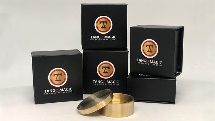 Okito Coin Box Brass 50 cent Euro by Tango -Trick (B0003)