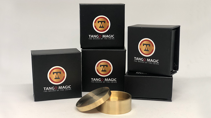 Slot Okito Coin Box Brass Half Dollar (B0019)by Tango -Trick