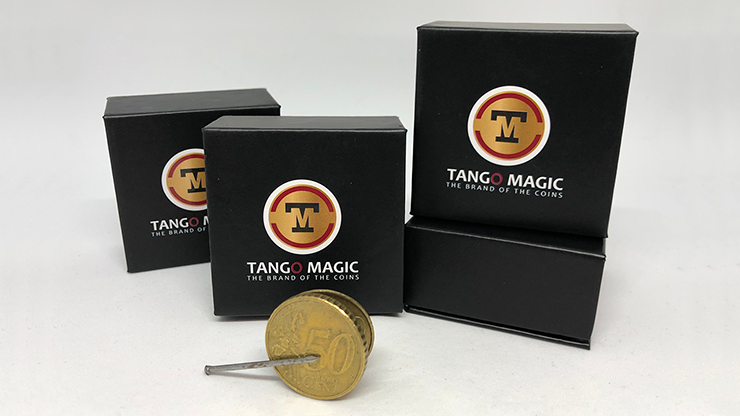 Magnetic Flipper Coin E0033 (50 Cent Euro) by Tango- Trick