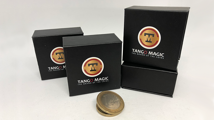 Expanded Shell Coin - (1 Euro, Steel Back) by Tango Magic - Trick (E0066)