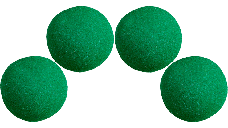 4 Bolas de Esponja - 1.5 Pulgadas (Verde) - Magic by Gosh