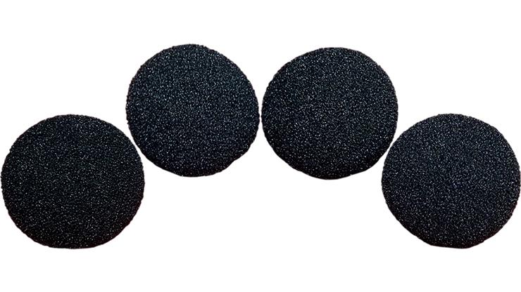 4 Bolas de Esponja Super Suave - 1.5 Pulgadas (Negro)