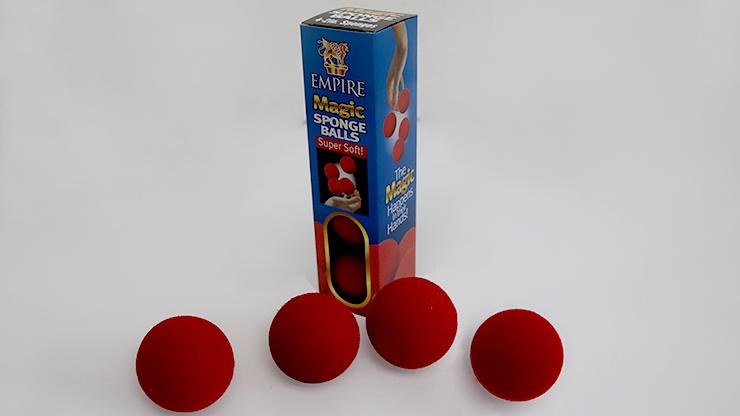 2 inch Sponge Ball (Red) 4 pack - Loftus