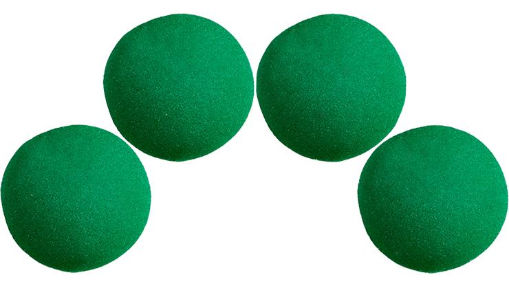 4 Bolas de Esponja Super Suave - 1 pulgada (Verde)