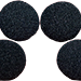 2.5 inch Regular Sponge Ball (Black) Pack of 4 from Magic by Gosh