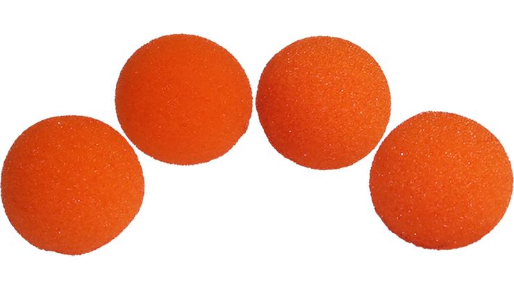 4 Bolas de Esponja Super Suave - 2 Pulgadas (Naranja)