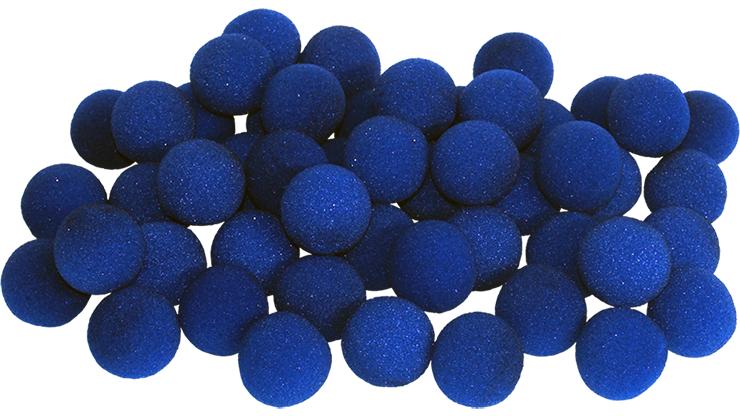 50 Bolas de Esponja Super Suave - 1.5 Pulgadas (Azul)