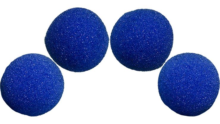 4 Bolas de Esponja Super Suave - 2 Pulgadas (Azul)