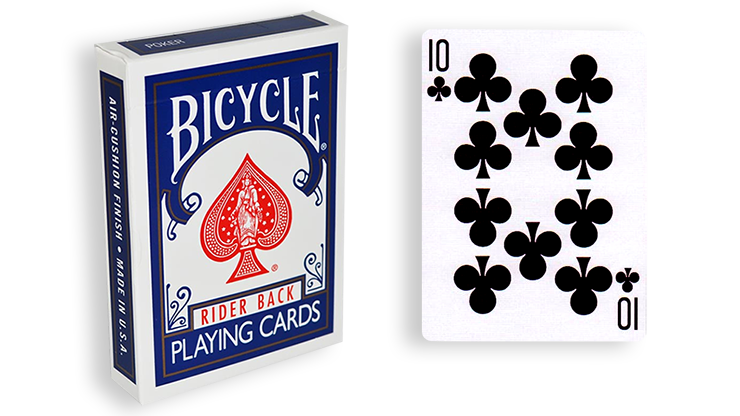 Cartas para Forzar - 1 Eleccion - 10 de Picas - Cartas Bicycle - Azul