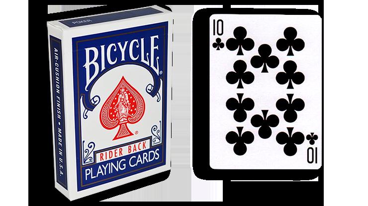 Cartas para Forzar - 1 Eleccion - 10 de Picas - Cartas Bicycle - Azul