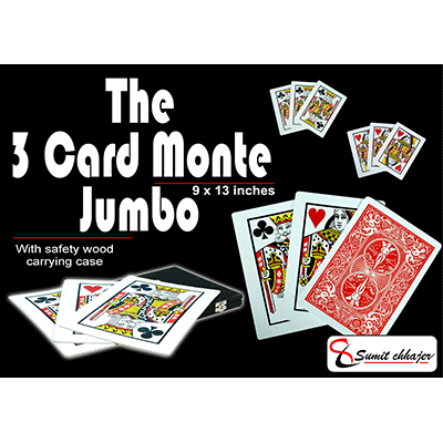 3 Card Monte (Find the Lady) 9x13 (All Cards Gaffed) by Sumit Chhajer - Trick