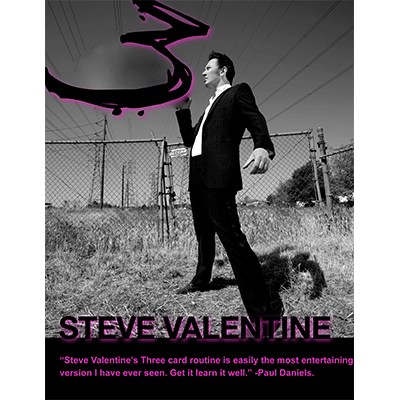 3 Card Routine (Cards and DVD) by Steve Valentine