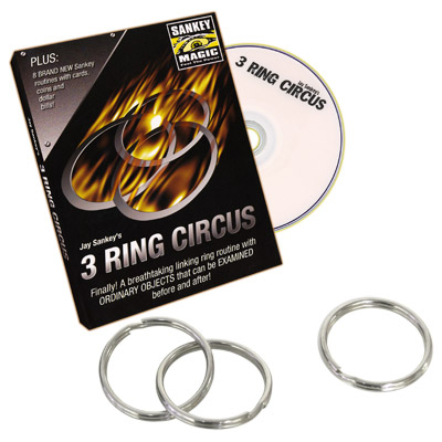 3 Ring Circus (With DVD) by Jay Sankey - Trick
