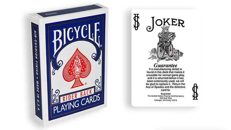 Cartas para Forzar - 1 Eleccion - Joker con Garantia - Cartas Bicycle - Azul