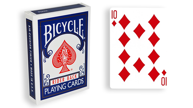 Cartas para Forzar - 1 Eleccion - 10 de Diamantes - Cartas Bicycle - Azul