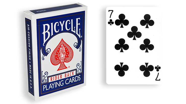 Cartas para Forzar - 1 Eleccion - 7 de Picas - Cartas Bicycle - Azul
