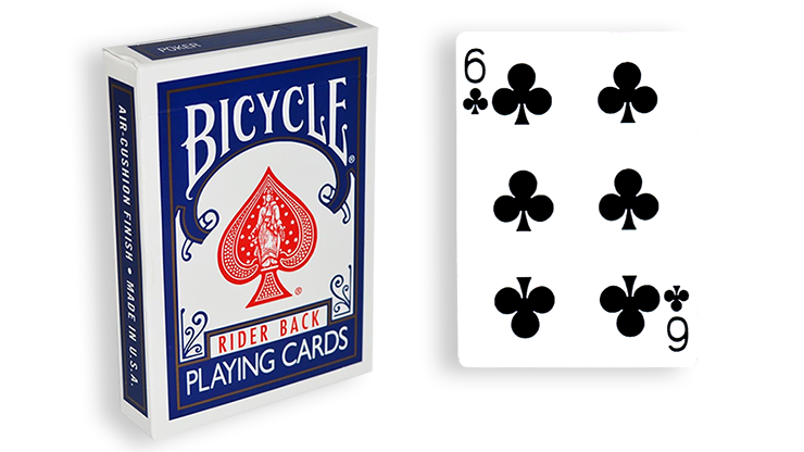 Cartas para Forzar - 1 Eleccion - 6 de Picas - Cartas Bicycle - Azul