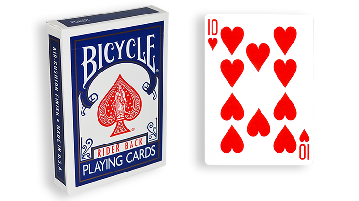 Cartas para Forzar - 1 Eleccion - 10 de Corazones - Cartas Bicycle - Azul