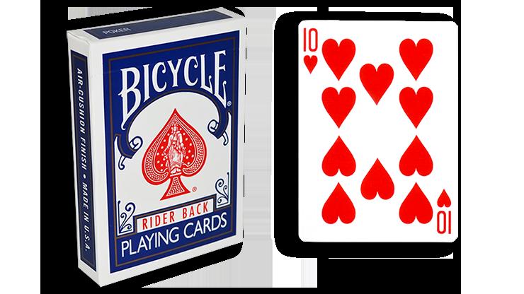 Cartas para Forzar - 1 Eleccion - 10 de Corazones - Cartas Bicycle - Azul