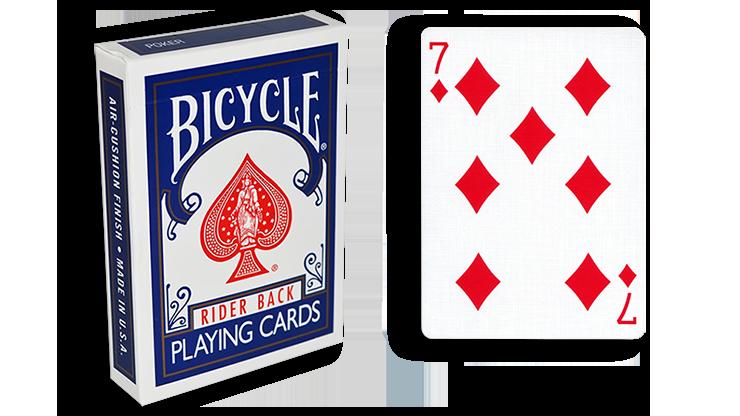 Cartas para Forzar - 1 Eleccion - 7 de Diamantes - Cartas Bicycle - Azul