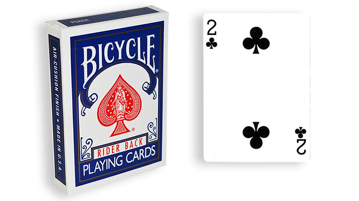 Cartas para Forzar - 1 Eleccion - 2 de Picas - Cartas Bicycle - Azul
