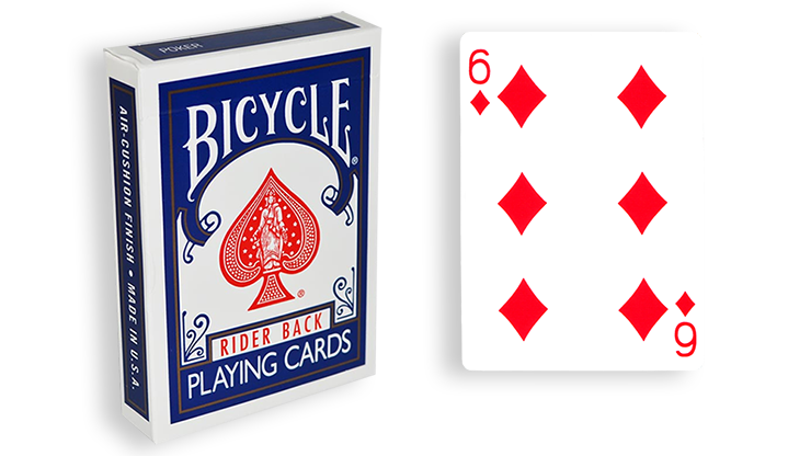 Cartas para Forzar - 1 Eleccion - 6 de Diamantes - Cartas Bicycle - Azul