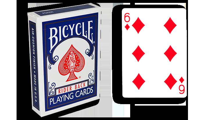 Cartas para Forzar - 1 Eleccion - 6 de Diamantes - Cartas Bicycle - Azul