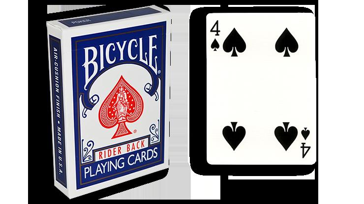Cartas para Forzar - 1 Eleccion - 4 de Espadas - Cartas Bicycle - Azul