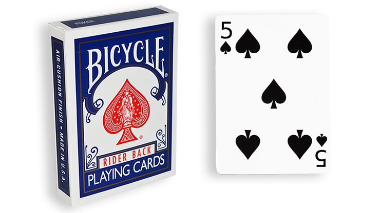 Cartas para Forzar - 1 Eleccion - 5 de Espadas - Cartas Bicycle - Azul