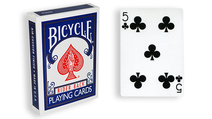 Cartas para Forzar - 1 Eleccion - 5 de Picas - Cartas Bicycle - Azul