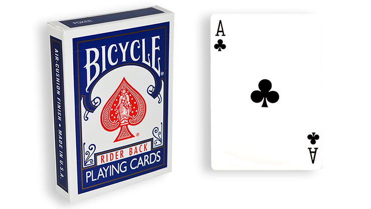 Cartas para Forzar - 1 Eleccion - as de Picas - Cartas Bicycle - Azul