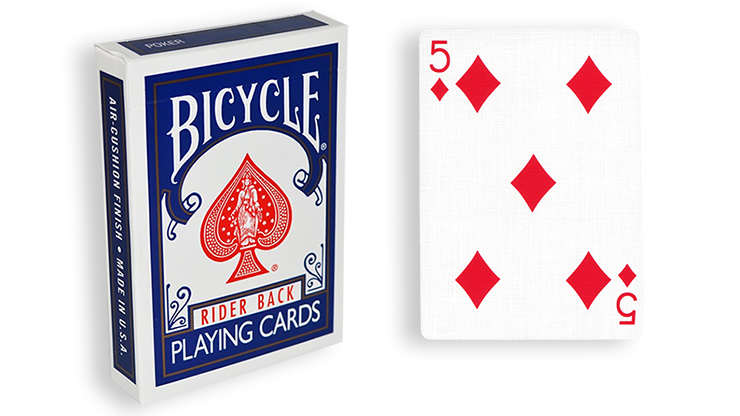 Cartas para Forzar - 1 Eleccion - 5 de Diamantes - Cartas Bicycle - Azul