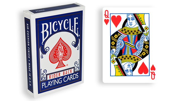 Cartas para Forzar - 1 Eleccion - Reina de Corazones - Cartas Bicycle - Azul