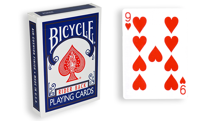 Cartas para Forzar - 1 Eleccion - 9 de Corazones - Cartas Bicycle - Azul
