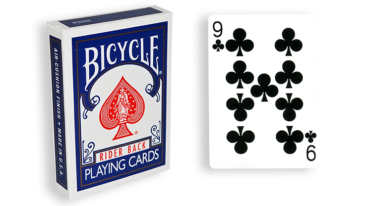 Cartas para Forzar - 1 Eleccion - 9 de Picas - Cartas Bicycle - Azul