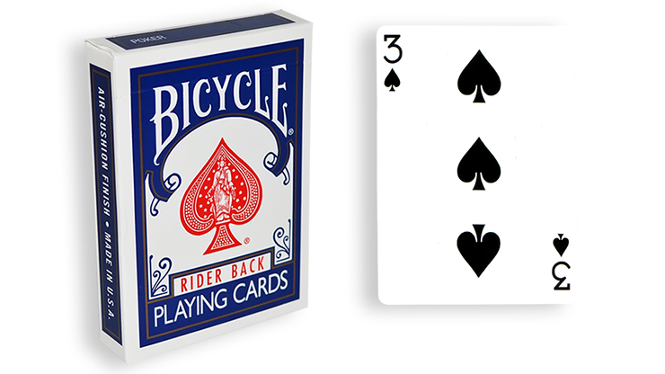Cartas para Forzar - 1 Eleccion - 3 de Espadas - Cartas Bicycle - Azul