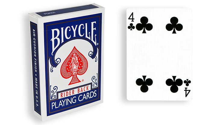 Cartas para Forzar - 1 Eleccion - 4 de Picas - Cartas Bicycle - Azul