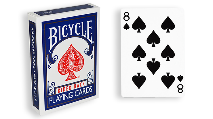 Cartas para Forzar - 1 Eleccion - 8 de Espadas - Cartas Bicycle - Azul