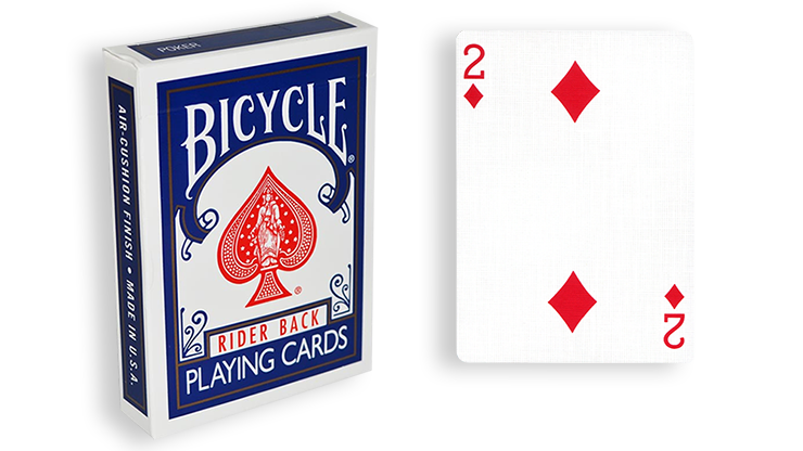 Cartas para Forzar - 1 Eleccion - 2 de Diamantes - Cartas Bicycle - Azul