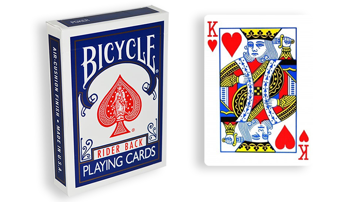 Cartas para Forzar - 1 Eleccion - Rey de Corazones - Cartas Bicycle - Azul