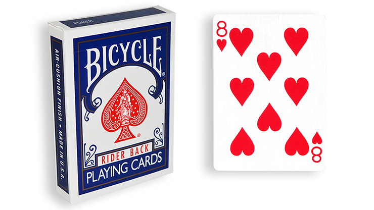Cartas para Forzar - 1 Eleccion - 8 de Corazones - Cartas Bicycle - Azul