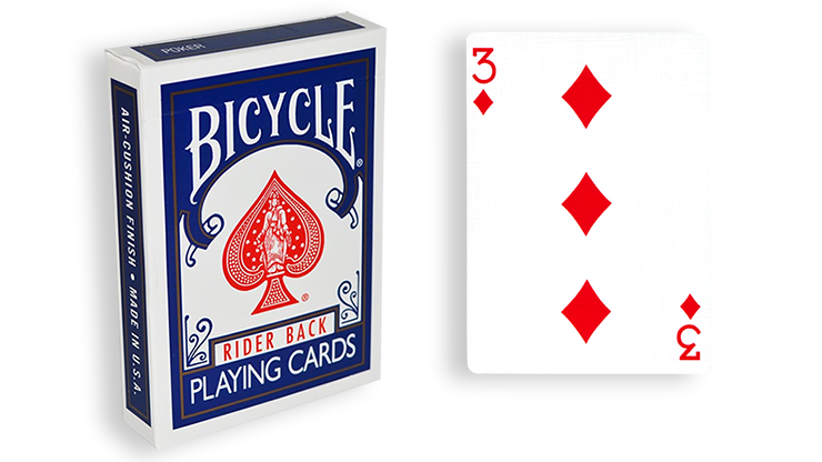 Cartas para Forzar - 1 Eleccion - 3 de Diamantes - Cartas Bicycle - Azul