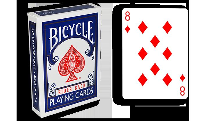 Cartas para Forzar - 1 Eleccion - 8 de Diamantes - Cartas Bicycle - Azul