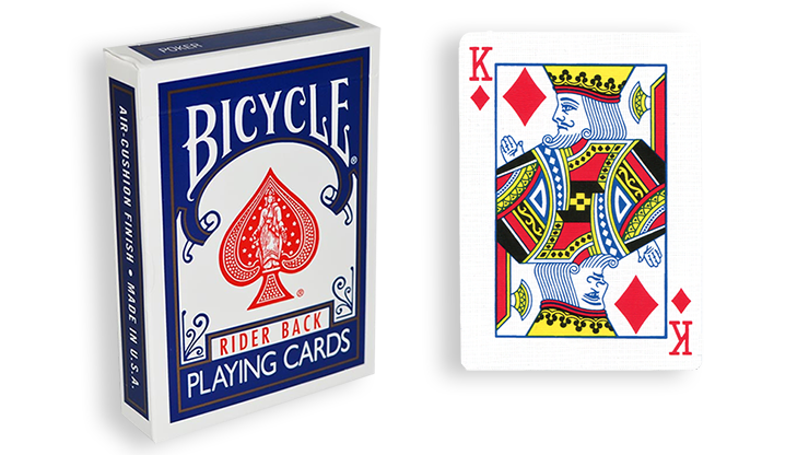 Cartas para Forzar - 1 Eleccion - Rey de Diamantes - Cartas Bicycle - Azul